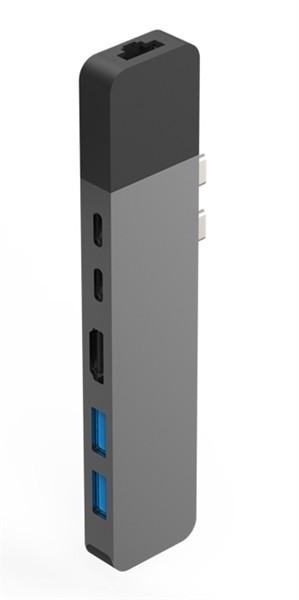 Hyper Net hub for USB-C Macbook pro space gray