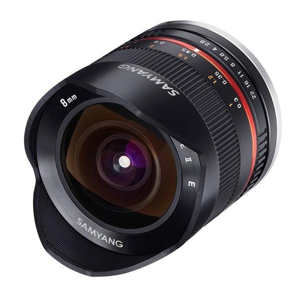 Samyang 8mm f/2.8 II Fisheye MC Samsung NX Zwart