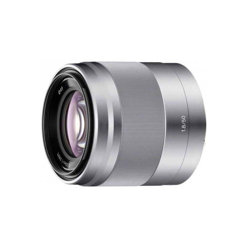 Sony E 50mm F1.8 zilver