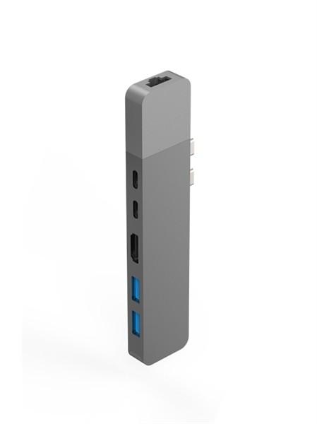Hyper Net hub for USB-C Macbook pro silver