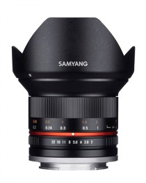 Samyang 12mm F2.0 NCS CS Sony E-Mount Zwart