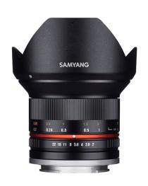Samyang 12mm F2.0 NCS CS Fisheye Samsung NX Zwart