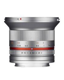 Samyang 12mm F2.0 NCS CS Samsung NX Zilver