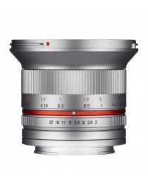 Samyang 12mm F2.0 NCS CS Canon M Zilver