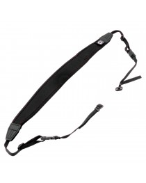 Caruba Camera Neckstrap - extra long + Quick release Black + Red