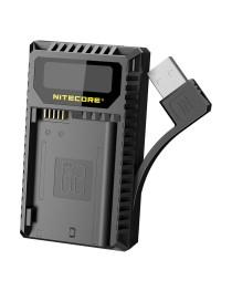 Nitecore UNK2 Compacte Dubbel Lader voor Nikon EN-EL15 + USB