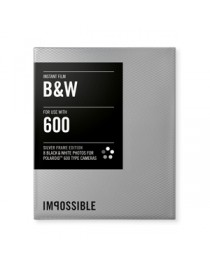 Impossible Black & White Film / Silver Frame voor Polaroid 600