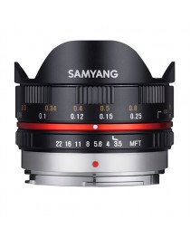 Samyang 7.5mm f/3.5 Fisheye MC Micro 4/3 Zwart