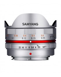 Samyang 7.5mm f/3.5 Fisheye MC Micro 4/3 Zilver
