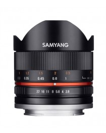Samyang 8mm f/2.8 II Fisheye MC Canon M Zwart