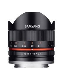 Samyang 8mm f/2.8 II Fisheye MC Canon M Zwart