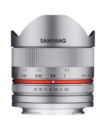 Samyang 8mm f/2.8 II Fisheye MC Canon M Zilver