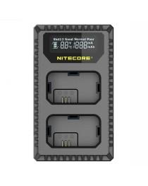 Nitecore USN1 Compacte Dubbel Lader voor Sony NP-FW50 met indicator + USB