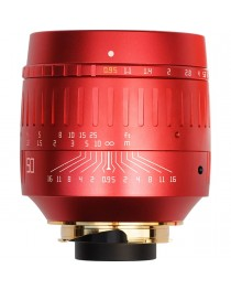 TTartisans M 50mm F0.95 ASPH Leica M Rood (Limited Edition)